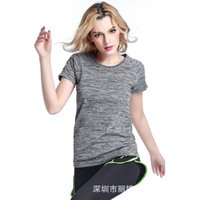 Wholesale Women jogging shirts Yoga Clothing Fashion Ladies Tees T shirts Aerobics Running Jogging Training Gym t shirt