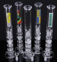 Metal new tires - New smoking pipe Glass Bong water pipe Straight pure glass TreePerc water pipe with three Honeycomb Tire Percolato