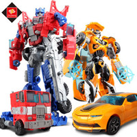 Wholesale 2016 Transformation Robot Cars Optimus Prime Bumblebee Action Figure styles classic toys For Children s Birthday Gift