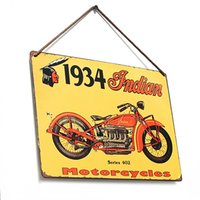 Wholesale Beautiful Design Decor Pub Tavern Garage Tin Sheet Metal Sign Indian Vintage Picture LD210