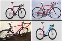 Wholesale The style of Pink for women DIY Complete bike Made in China with road bike carbon Frames Wheelset Handlebar Saddles