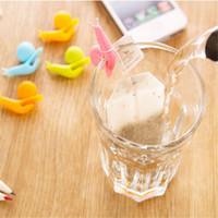 Wholesale 5 Cute Snail Shape Silicone Tea Bag Holder Cup Mug Candy Colors Gift Set GOOD Random Color