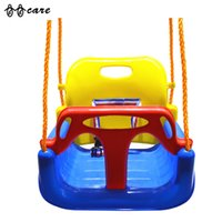 babies swing seat - Fashion Baby Outdoor Swing Plate Kid Play Game Swing Seat Baby Lanyard Balcony Hanging High Quality