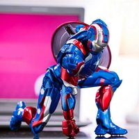 american comic - PVC cm Collection Action Figures Iron Man The Avengers Captain American Comics Heros for Kids Toys P007