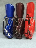 Wholesale New hot style fashion golf ball bag top pu leather golf bag colors women men brand golf cart bag limited sale