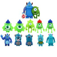 animated flash drives - 1GB GB GB GB GB Animated USB Pendrives Monster University Series U Disk Cartoon USB Flash Memory Stick Drives