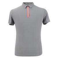 Wholesale PGM Golf POLO Men s Shirt Fashion Male Clothing Sport amp Casual Short T shirt Turn down Collar Plus Size XXL Quick Dry