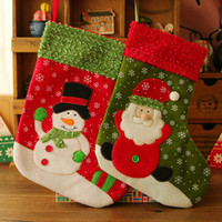 Wholesale Snow Christmas stockings Children s Christmas gift gift bags the Christmas tree ornaments Christmas stockings shipping
