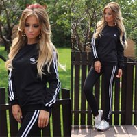baseball cycling jerseys - Hot Sale Spring Autumn New Women Cotton Tracksuit Sport Suits Hoodies Shirt and Pant Jogging Female Sportswear Tracksuits Size S XL