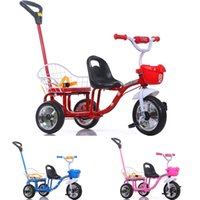 baby bike wheel - Wholesales Large Wheels Child Tricycle Double Seats Summer Kid Outdoor Activity Toys Portable Baby Bike Strollers JN0040 kevinstyle