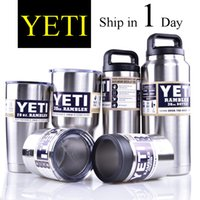 Wholesale YETI oz OZ oz oz oz Clear Lid Rambler Cups for Yeti Coolers Cup Sports Mugs Large Capacity Stainless OTH242