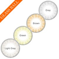 ball contact - Hot Selling Glass Ball Color Contact Lenses Big Eye Circle Lens Ready Stock