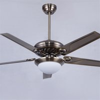 Wholesale New Sale Ac Decorative Ceiling Fans Ventilador Teto Ceiling Fans Lamp Light Bronze Iron Blade Inches Fan With Lights