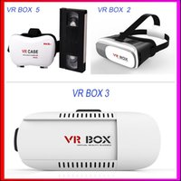 Wholesale Virtual Reality D VR Glasses Plastic Google Cardboard D VR BOX Adjustable D VR Glasses Headset with Gamepad