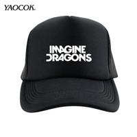 Envío al por mayor-libre 2016 Nueva invierno Hip Hop impresos personalizados Imagine Dragons banda de punk rock para hombre sombreros y los casquillos del Snapback Marca Sport