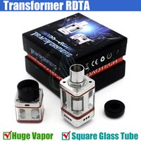 air force tube - 2016 New Transformer RTA RTDA Stainless Steel rebuidable Mod RDA atomizer Square Glass Tube air force one e cigs Vapor mods atomizer DHL