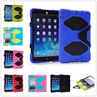 Wholesale Military shockproof Heavy Duty Case cover Stand Cover with Screen Protector for Apple iPad air air2 miniTablet PC
