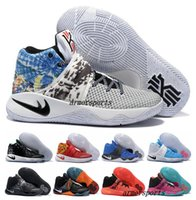 basket ball balls - New Kyrie Irving Shoes Mens Basketball Shoes Kyrie II Bright Crimson Tie Dye BHM Basket Ball Olympic Men Shoes Sneakers For Sale
