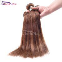 america human - Dark Brown Raw Indian Silky Straight Hair Bundles Grade A Human Hair Weave Color Cheap Straight Weft Sout America Hair Deals