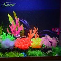 Wholesale 1 Artificial Coral Plant tentacle ornament decoration for aquarium