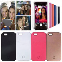 Wholesale For Iphone LED Flash Llight Case Selfie Phone Back Cover Shell Cases Luminated For iphone S plus Galaxy S6 S7 Edge