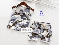 babies - 2016 summer baby boys girls camouflage pc set boys cotton leopard vest baby pp pants shorts children camouflage outfits color choose