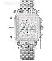 michele watch - Hottest MWW06Z000001 Michele Deco Diamond Chronograph day date fully function quartz watch fashion women s Dress Watches