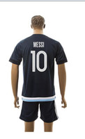 Wholesale 2016 Argentina top Soccer Jersey Home Away rd soccer jersey messi jersey Mix Order Drop Shipping Accepted