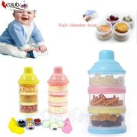 Wholesale Portable Baby Infant Feeding Milk Powder Food Bottle Container Cells Grid Box