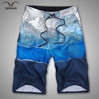 bermudas map - New Men Swim Shorts Brand Board Shorts Quick Drying Earth Map Print Beach Pants Bermudas Masculina De Marca Surf L