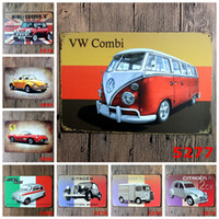 Wholesale quot Famous car quot Vintage Metal Painting Tin Signs Bar Pub Home Cafe Wallpaper Art Decor Mural Poster Metal Craft x30 CM