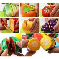 Wholesale Kitchen Set Toys Kids Toys Kitchen Set Kitchen Wooden Fashion New Kids Pretend Role Play Kitchen Fruit Vegetable Food Toys Cutting Set Child