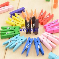 Wholesale Wood Clothespin Clips Note Pegs Mixed for Photo Paper Clothes cm