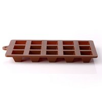 Wholesale New typle home appliances chocolate mold grid shaped diamond shaped block Environment friendly ice cake and candy baking moulds