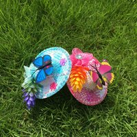 Wholesale Per Mixed Color Straw Hat Children Hairpins Girls Hair Clips support drop shipping