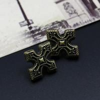 america love - Retro Bronze Cross Fashion Jewelry Europe America hot earring for women love Retro copper alloy Stud Earring