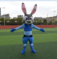 Wholesale 2016 new Zootopia mascot Judy Hopps lapin and Nick Fox mascot costume