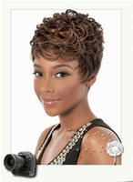 Wholesale Popular Brown Hair Lady s Synthetic wigs Fashion Short wigs hot selling