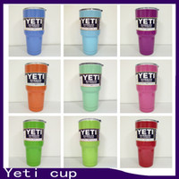 Wholesale Powder Coated oz Yeti Rambler YETI Coolers Rambler Tumbler Stainless Steel Double Walled Travel Mug YETI cup