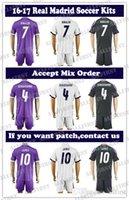 Wholesale Top Quality Soccer Jersey Uniforms Men Soccer Kit RONALDO JAMES BALE RAMOS ISCO MODRIC KROOS PEPE etc Home Away Football Kit