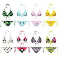 Wholesale Women D Emoji Bikinis Print Galaxy Bikinis Set Bandeau Digital Swimwear Fashion Swimsuit Sexy Bathing Suit Beachwear Push Up Bras