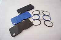 Wholesale New Clip Nose TR90 Reading Glasses Mini Ultralight SOS Wallet Older Glasses With Box Glass Lens Metal