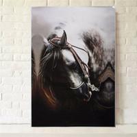 Конные фотографии Цены-Китайский стиль Алмазный счетный Crossstitch Kit Картина Лошадь шаблон Смола горный хрусталь Картина для дома Hall украшения стены