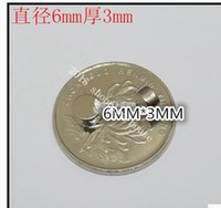 Wholesale Rare earth permanent magnet NdFeB super strong magnetic circular magnet x3mm
