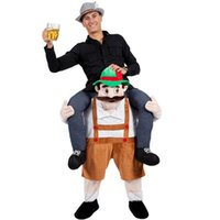 Wholesale Halloween Fanny Carry Me Bavarian Beer Guy Mascot Costume Oktoberfest Fancy Dress Garden Gnome Unisex Mascot Costumes