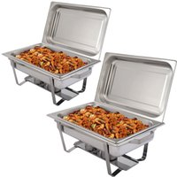 Wholesale New Pack of Quart Stainless Steel Rectangular Chafing Dish Full Size