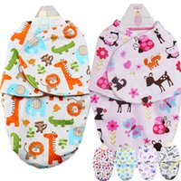 Wholesale Baby Swaddling Blankets Newborn Infant Towel Wrap Soft Flannel Parisarc Envelope Double Layer Cotton Swaddle
