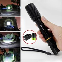 Wholesale torches Black nitecore flashlight Tactical mode LM Zoomable CREE XML T6 LED Flashlight Charger uv flash lights