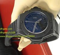 al por mayor los relojes de alta potencia-Para hombre del anuncio de alta calidad superior del reloj de King Power Negro DLC / Pvd SWIS cronógrafo de cuarzo del reloj para hombre Relojes para hombre