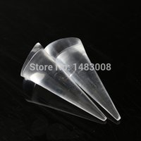 acrylic cone stand - 2PCS Jewelry Ring Display Holder Stand Cone Shape Organic Glass Acrylic Transparent High Quality